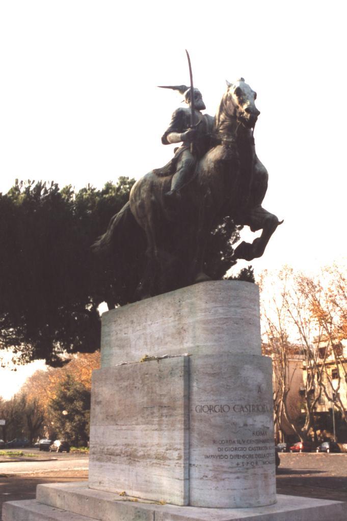 Monumenti i Skenderbeut ne Rome